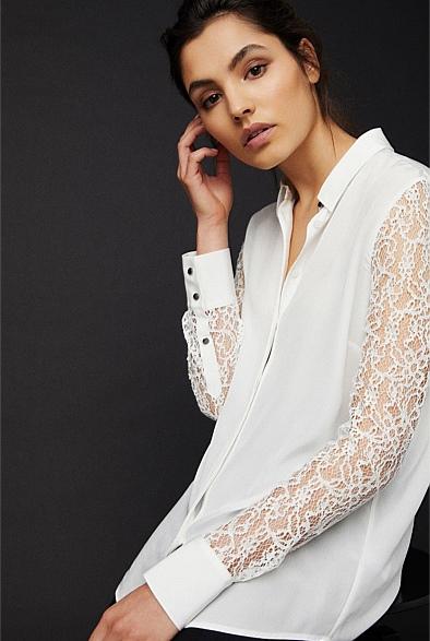 OCRF Silk Lace Shirt | Tuggl