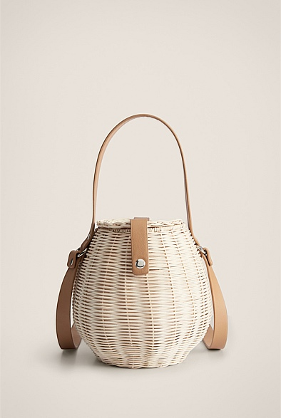 Wicker Honey Pot Bag