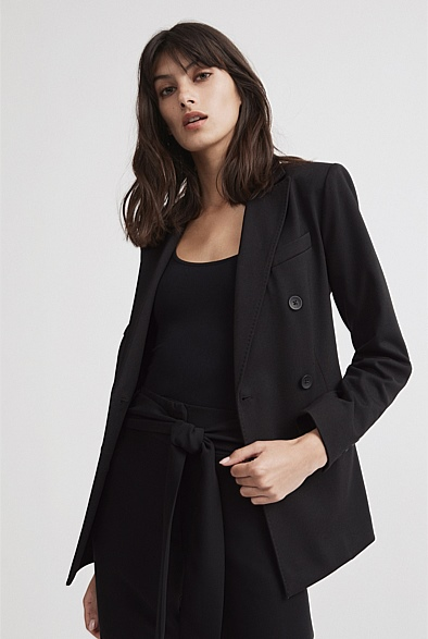 Double Breasted Jersey Blazer