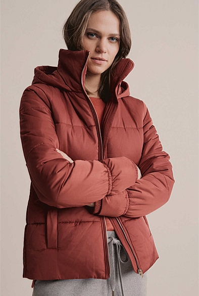 Wide Quilted Puffer