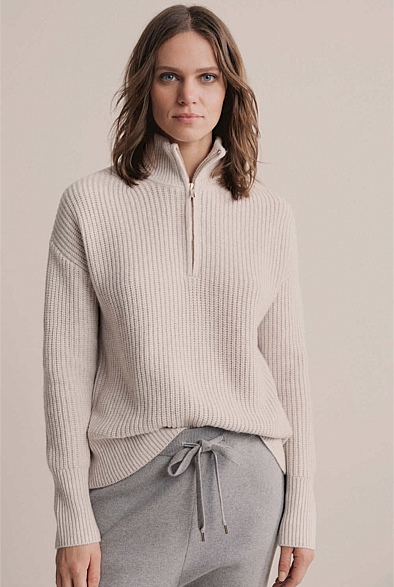Zip Front Luxe Knit