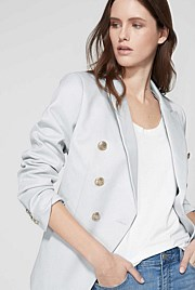 Double Breasted Twill Blazer