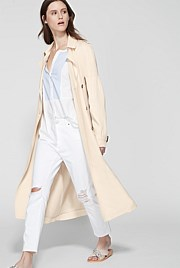 Pleat Sleeve Trench
