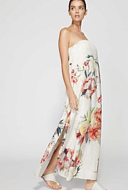 Strapless Rose Maxi Dress