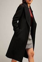 Lined Lapel Coat