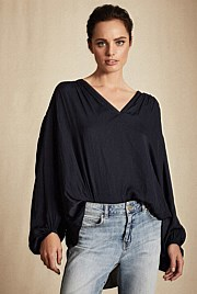 V Neck Gypsy Blouse