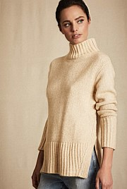 High Low Step Knit