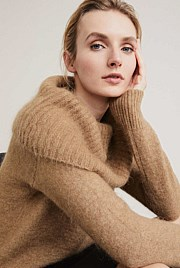 Cowl Neck Slouch Knit