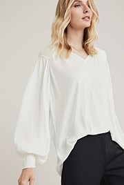 OCRF Pleated Shoulder Blouse