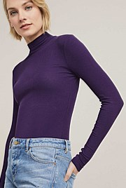 Rib Turtle Neck Top