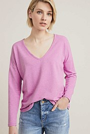 V Neck Marled Top