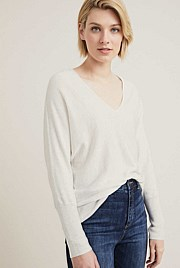 V Neck Cocoon Knit