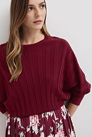 Pleat Detail Knit