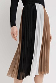 Spliced Pleat Skirt