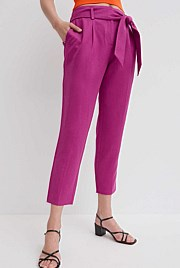 Tapered Tie Belt Pant