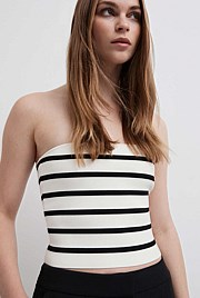 Stripe Knit Bandeau