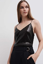Sequin V Camisole