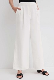 Trim Detail Wide Leg Pant