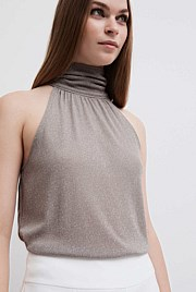 Lurex Knit Halter