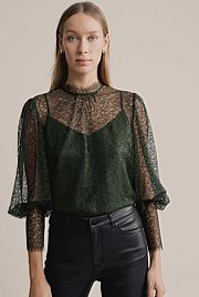 Lace High Neck Blouse