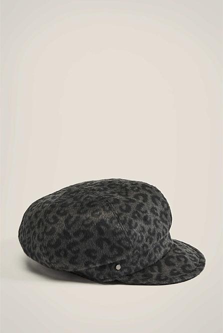 Leopard Print Baker Boy Hat  9b795d45429