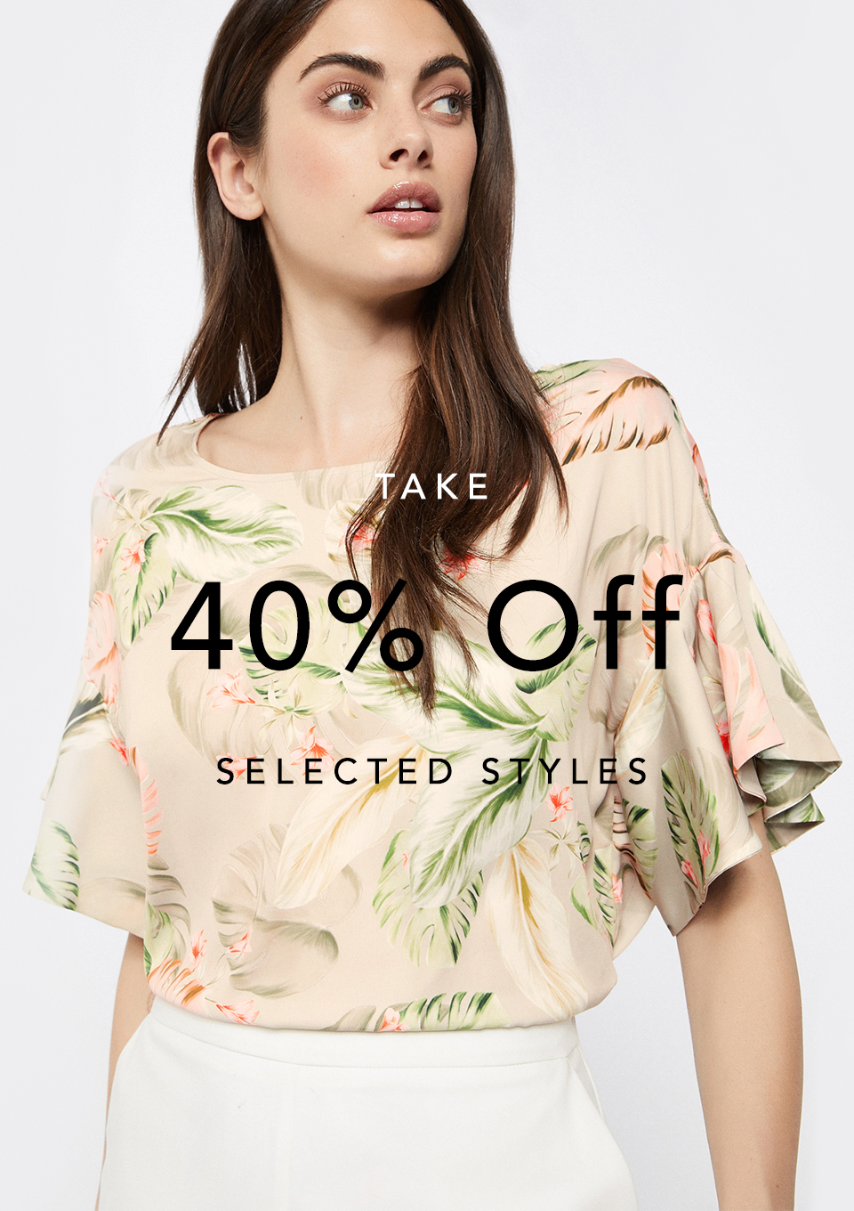 Take 40% Off Selected Styles