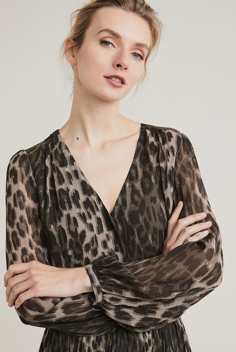 Animal Button Up Blouse
