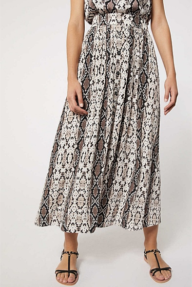 Snake Button Skirt