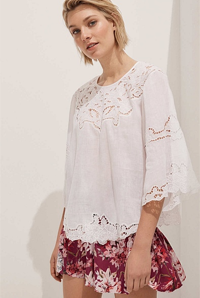 Tia Embroidered Blouse