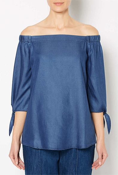 Exposed Shoulder Blouse