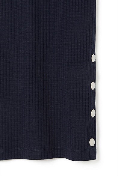 Button Trim Dress