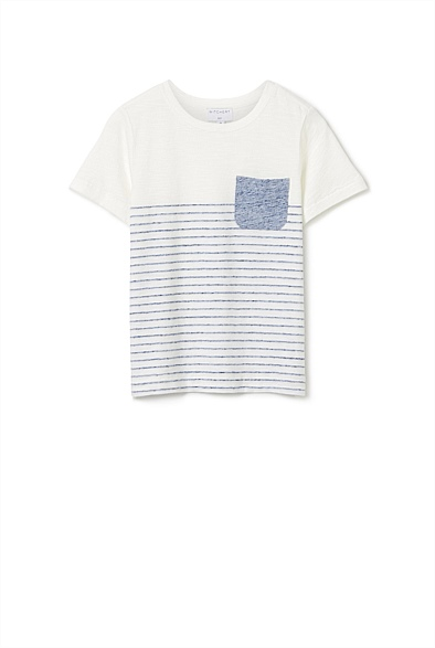Fine Pocket Stripe T-shirt