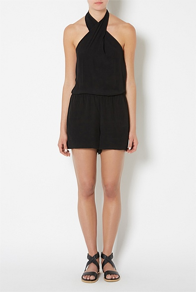 Tie Neck Playsuit