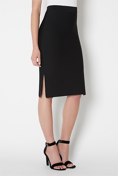 Side Split Knit Skirt