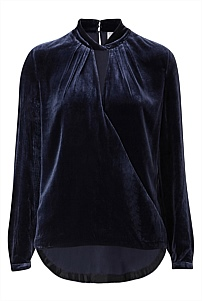 Velvet Cross Over Blouse