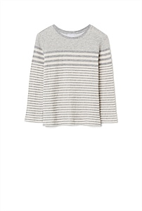 Fine Stripe Longsleeve Top