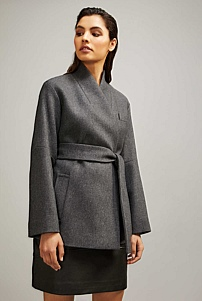 Cropped Pocket Coat