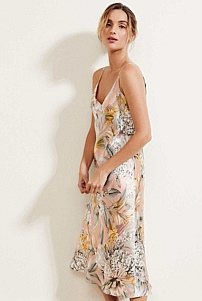 Silk Print Slip Dress