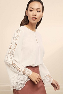 Peggy Embroidery Silk Blouse
