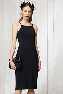 Strap Structured Dress