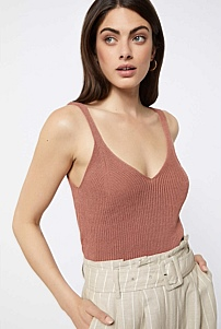 V Neck Knitted Cami